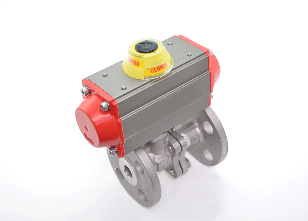 Automated Two Piece Flanged Full Port Ball Valve
